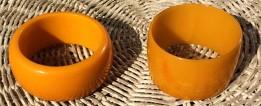 Bakelite butterscotch bracelets