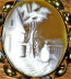 Shell Cameo (hand carved) set in gold