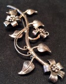 Sterling hand wrought art nouveau pin.