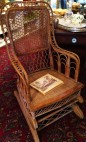 Heywood Brothers (before they merged to become Heywood Wakefield) whicker rocking chair c1826-1834